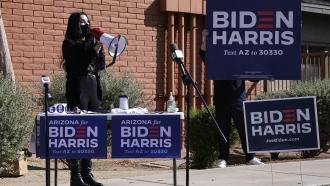 Cher campaigns for Joe Biden in Arizona