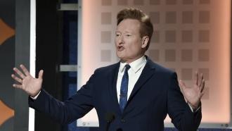 Late night television talk show host Conan O'Brien.