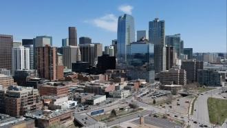 The Denver skyline.