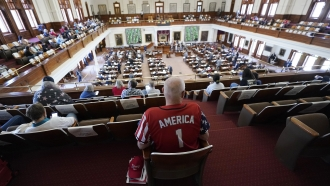 Gerald Welty sits the House Chamber at the Texas Capitol