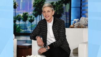 "Ellen DeGeneres appears during a taping of the ""The Ellen DeGeneres Show"""