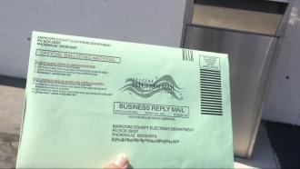 Absentee ballot envelope.