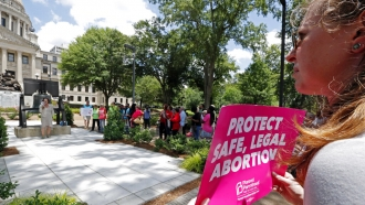 Abortion rights advocates protest