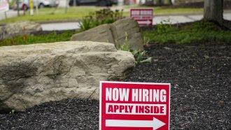 A hiring sign in Pennsylvania.