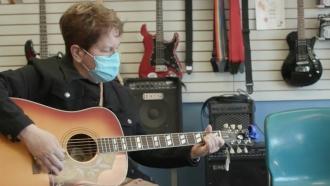 Music store co-owner Terri Senecal