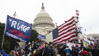 supporters of President Donald Trump besiege the U.S. Capitol in Washington