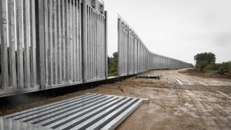 New border wall being built between Greece and Turkey