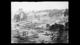Damage in the 1921 Tulsa Race Massacre