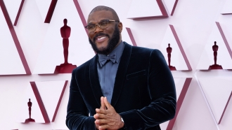 Tyler Perry arrives at the 2021 Oscars