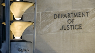 The Department of Justice in Washington.