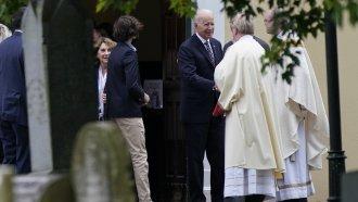 President Joe Biden at church in Delaware