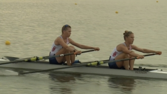 Rowers on a boat