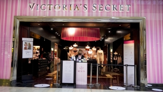 The entrance to a Victoria's Secret store at a shopping mall