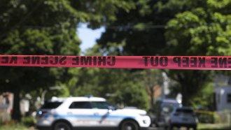 Police tape at scene of a crime