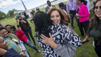 Michigan Gov. Gretchen Whitmer Celebrates Lifting Of COVID-19 Restrictions