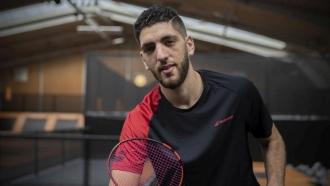 Badminton player Aram Mahmoud