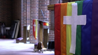 At the pulpit of Dignity Chicago, a practicing Catholic LGBTQ organization