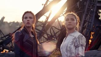 "Scarlett Johanssen and Florence Pugh in ""Black Widow"""