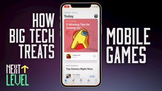 """A screenshot of a mobile phone displaying the App Store version of the game """"Among Us."""""""