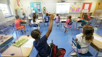 Children in classroom.