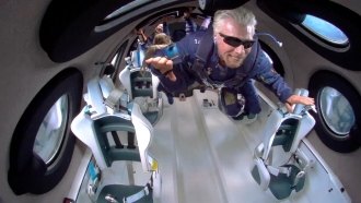 Richard Branson's Virgin Galactic Completes Pioneering Flight