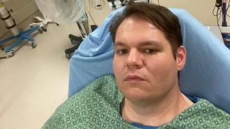 Daniel Richard in hospital
