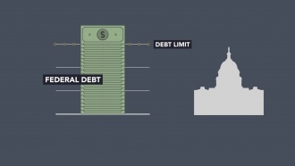 Graphic of federal debt.