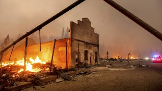 Destruction in Greenville, California, after wildfire