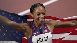 United States Olympic track star Allyson Felix.