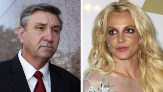 Jamie Spears, left, father of Britney Spears, right