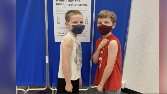 Kids get vaccinated
