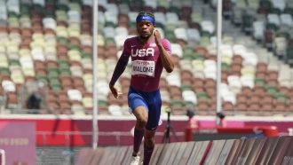 Noah Malone of the United States competes at the 2020 Paralympics Games in Tokyo, Japan.