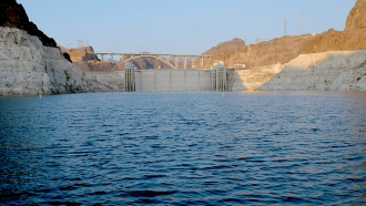Water levels at Lake Mead continue to drop as drought and expanding populations deplete this crucial reservoir.