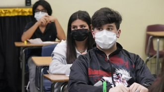 Florida students sit in class