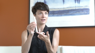 Sexual health educator, Scout Bratt, gives a walkthrough on menstrual products