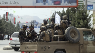 The Taliban Celebrate First Day Of Rule Without U.S. Troops