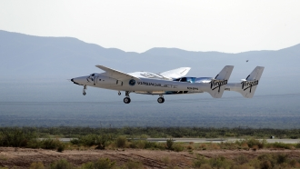 The craft carrying Virgin Galactic founder Richard Branson and other crew members