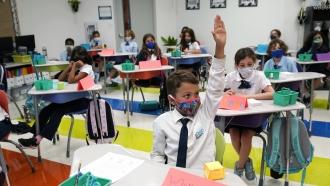 Students attend school in Miami, Florida.