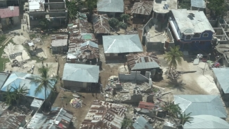 Homes destroyed in Haiti