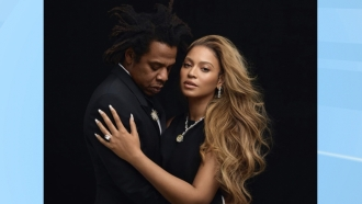 Shawn Carter, left, and Beyoncé Knowles-Carter, right