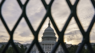Security fencing has been reinstalled around the Capitol in Washington.
