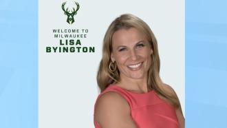 Milwaukee Bucks NBA TV play-by-play announcer Lisa Byington.