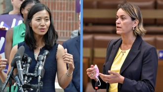 City Councilors Michelle Wu and Annissa Essaibi George