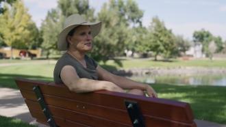 Transgender woman speaks during interview
