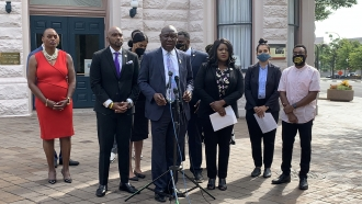 Attorney Ben Crump speaks about the Crutcher family's request to investigate the death of Terence Crutcher