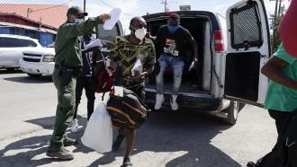 Haitian migrants released in Del Rio, Texas.