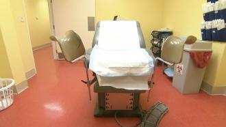 Inside a women's clinic