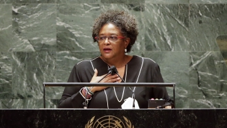 Mia Amor Mottley, Barbados Prime Minister, Minister for National Security and the Civil Service