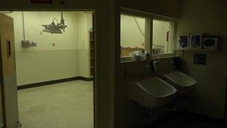 Empty hospital room.