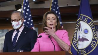 Speaker of the House Nancy Pelosi and Senate Majority Leader Chuck Schumer